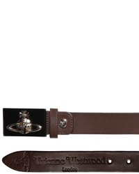 Vivienne Westwood 30mm Orbit Buckle Smooth Leather Belt