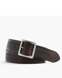 J.Crew Wallace Barnes Debossed Leather Belt