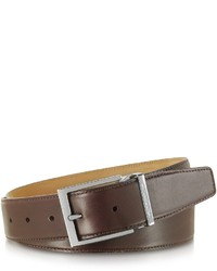 Moreschi York Dark Brown Calf Leather Belt