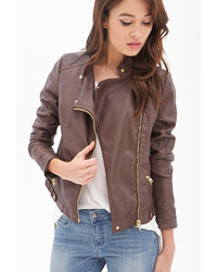 Forever 21 Contemporary Faux Leather Moto Jacket