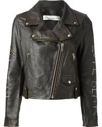 Golden Goose Deluxe Brand Bear Biker Jacket