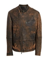 John Varvatos Star USA John Varvatos Distressed Leather Moto Jacket