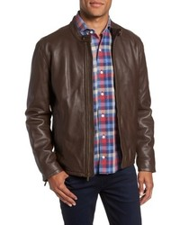 Cole Haan Lambskin Leather Moto Jacket