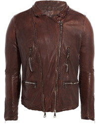 Giorgio Brato Leather Biker Jacket