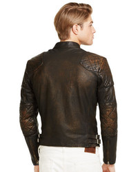 63d714c7ac181 ... Polo Ralph Lauren Leather Caf Racer Jacket