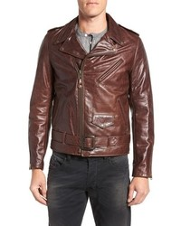 Perfecto slim fit waxy leather moto jacket medium 3750857