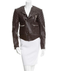 Balenciaga Quilted Leather Biker Jacket
