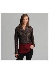 TANNERS AVENUE Premium Buffalo Distressed Brown Leather Biker Jacket