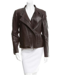 Textured leather jacket w tags medium 1291449