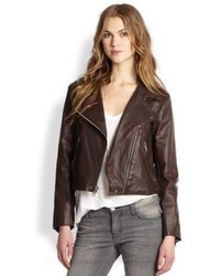 Current/Elliott The Soho Biker Faux Leather Jacket