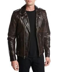 Ty leather motorcycle jacket coffee medium 3678354