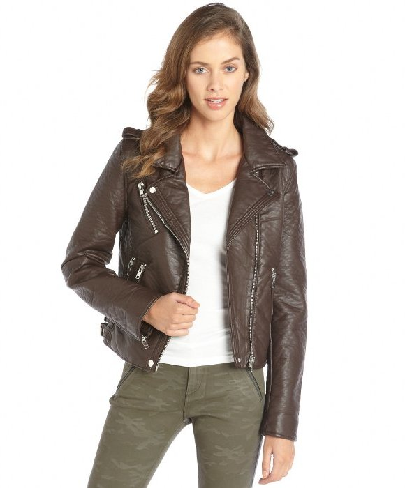 Brown Moto Jacket EIB5SY