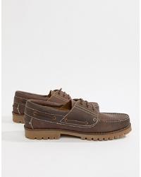 Silver Street Boat Shoe In Brown