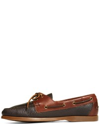 5f2ca260a7 Brooks Brothers Contrasting Leather Boat Shoes, $178 | Brooks ...