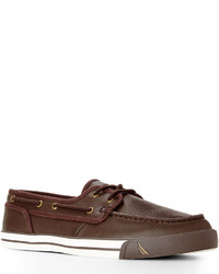 Nautica Brown Leather Boat Shoes