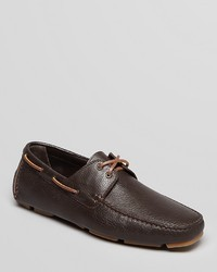 Bruno Magli Eblan Pebbled Leather Boat Shoe Driving Loafers