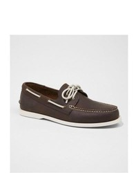 Express Leather Boat Shoe Brown 10