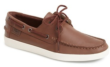 eda70da177491 ... Brown Leather Boat Shoes Lacoste Keelson 3 Leather Boat Shoe ...