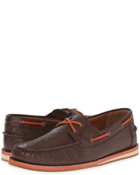 Etro Paisley Embossed Leather Boat Shoe