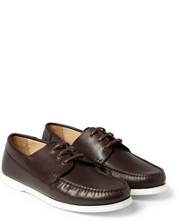 A.P.C. Rubber Soled Leather Boat Shoes