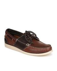 Sebago Saddle Brown Oiled Leather Boat Shoes