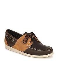 Sebago Saddle Dark Brown Medium Brown Boat Shoes