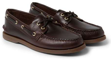 Sperry Authentic Original Burnished-leather Boat Shoes - Brown