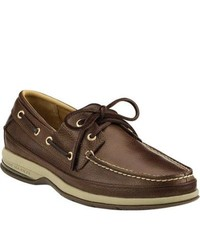 Sperry Top-Sider Gold Boat Asv Cognac Leather Sailing Shoes