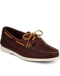 Sperry Topsider Shoes Authentic Original Boat Shoe By Made In Maine Mahogany Leather