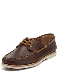 Frye Sully Leather Boat Shoe Brown