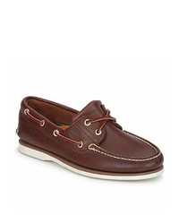 Timberland Classic 2 Eye Dark Brown Boat Shoes