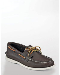 Sperry Top Sider Classic Brown Ao 2 Eye Leather Boat Shoe Smart Value