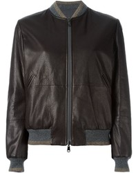 Dark Brown Leather Bomber Jackets for Women | Women&39s Fashion