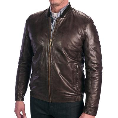 Dark Brown Bomber Jacket - JacketIn
