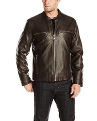 Andrew Marc Marc New York By Lamar Distressed Faux Leather Moto Jacket