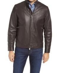 Peter Millar Anniversary Lambskin Leather Bomber Jacket