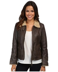 Breanne leather bomber jacket medium 134461