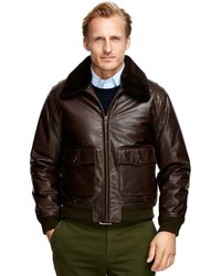 Brooks Brothers Leather Flight Bomber | Where to buy &amp how to wear