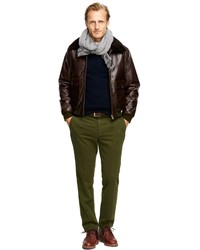 Brooks Brothers Leather Flight Bomber