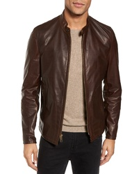 Schott NYC Cafe Racer Unlined Cowhide Leather Jacket