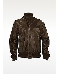 Schiatti Co Dark Brown Italian Nappa Leather Two Pocket Jacket