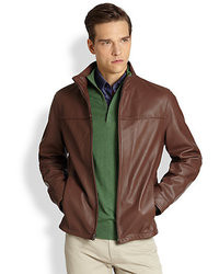 Saks Fifth Avenue Collection Perforated Leather Jacket