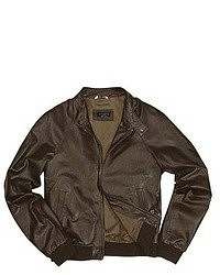 Forzieri Dark Brown Italian Genuine Leather Bomber Jacket