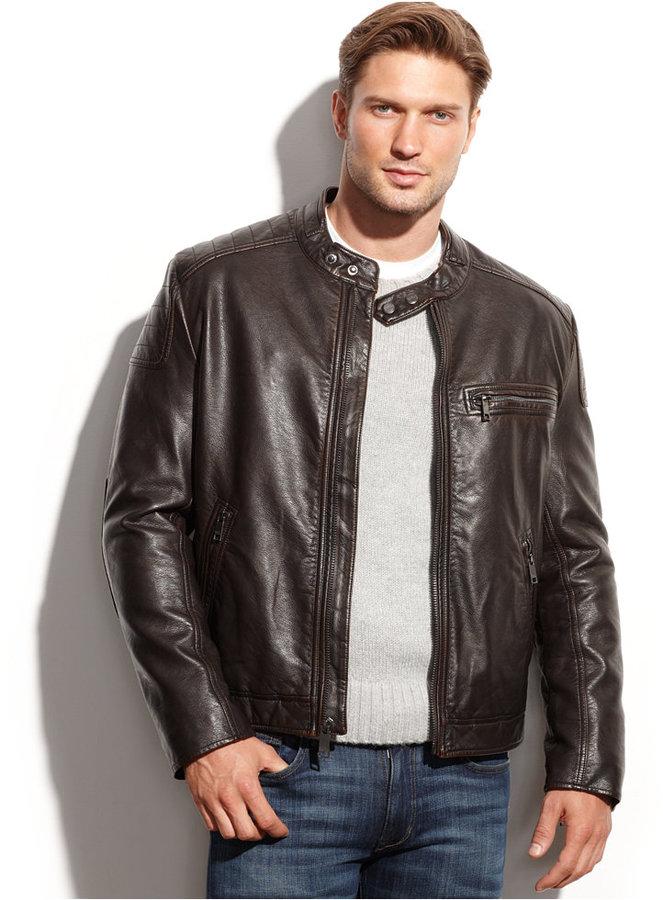 12eea910e $225, Marc New York Felton Distressed Faux Leather Moto Jacket