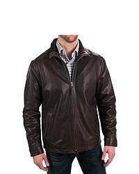 Golden Bear The Bryant Jacket Lambskin Leather Insulated Dark Brown