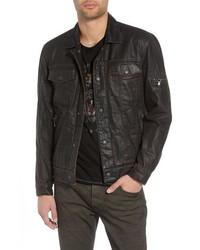 John Varvatos Star USA John Varvatos Faux Shearling Lined Trucker Jacket