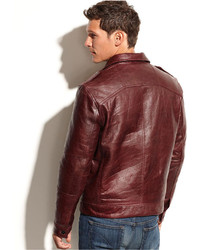 Collection Dark Red Leather Jacket Pictures - Reikian
