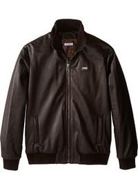 Dolce & Gabbana Leather Bomber Jacket Coat