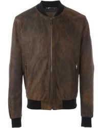 Leather bomber jacket medium 640081