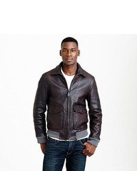J.Crew Leather Flight Jacket